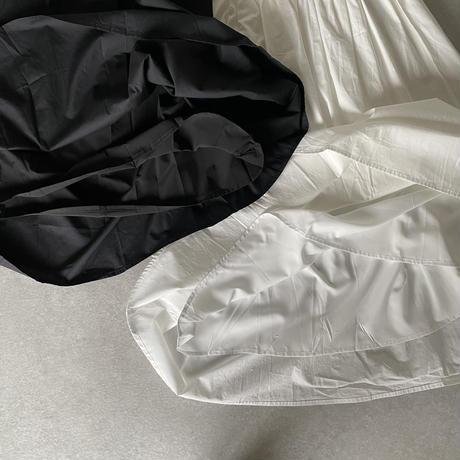 コットンギャザースカートwhite,black