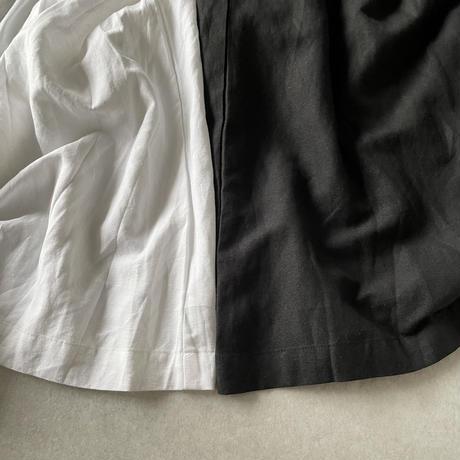 リネンロングワンピースwhite,black
