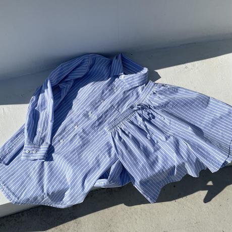 マルチストライプシャツyellow,blue