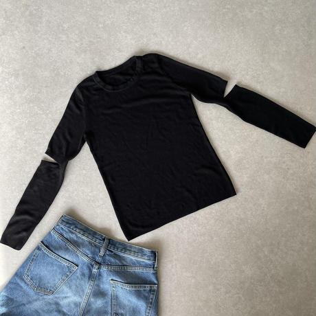 カッティングトップス(black,dark gray,khaki)