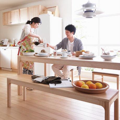 【WOODONE】無垢のテーブル colメープル L