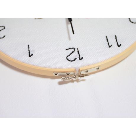 そうかニャン刺繍壁掛け時計 L①