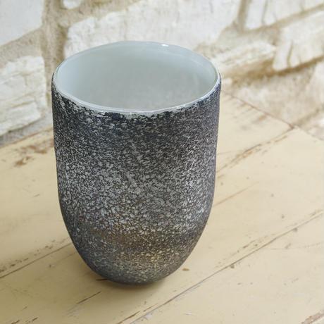 Monika grey dark glass vase round L 683932