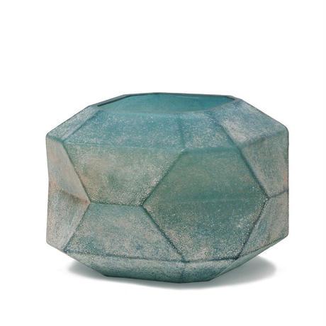 Dough blue geomatric glass vase L 675423