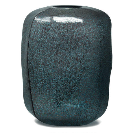 Rowan aqua Glass vase round high 680101
