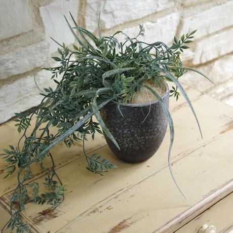 Monika grey dark glass vase round M 683934