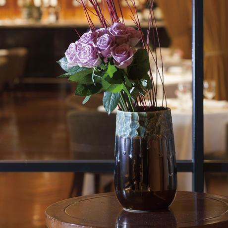 Bling copper ceramic vase round high L 670621