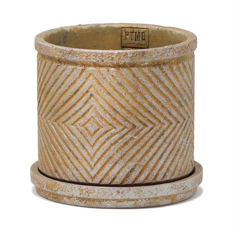 P.T.M.D Ruiten cement pot L gold 691456