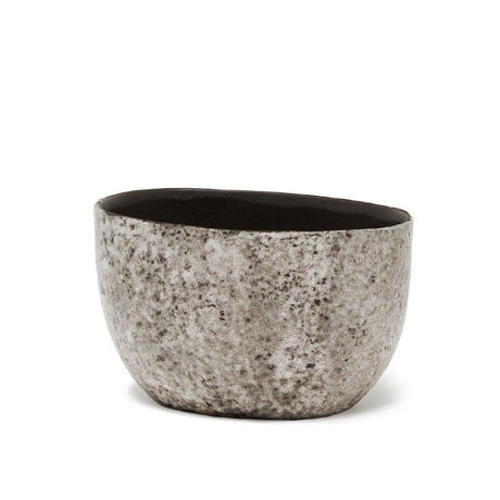 Arnem grey ceramic pot oval S 684686