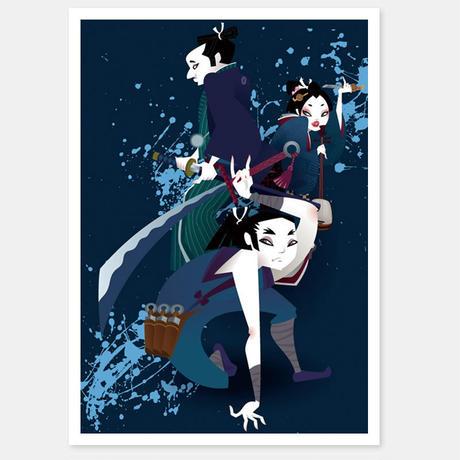 二つ折りカード Hissatsu Shigoto nin(They give you punishment) 封筒付き