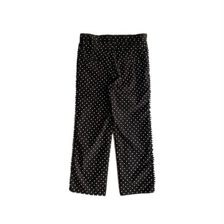 Midorikawa / DOTS PANT    BLACK / WHITE