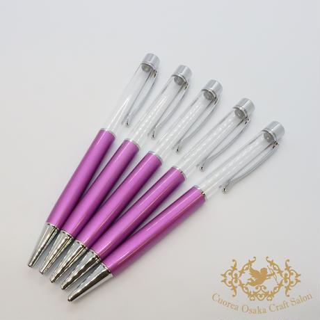 7:ハーバリウムボールペン単体 ライトパープル×S  5本組