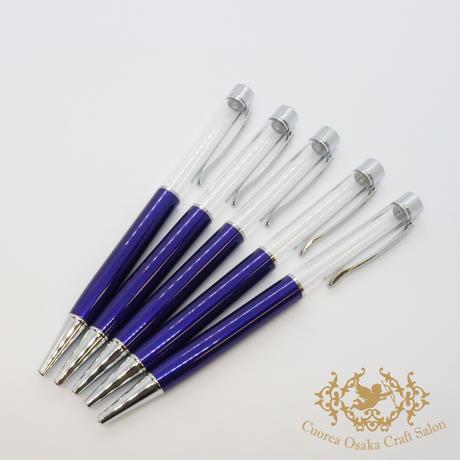 5:ハーバリウムボールペン単体 ブルー×S  5本組