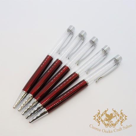 6:ハーバリウムボールペン単体 ワインレッド×S  5本組