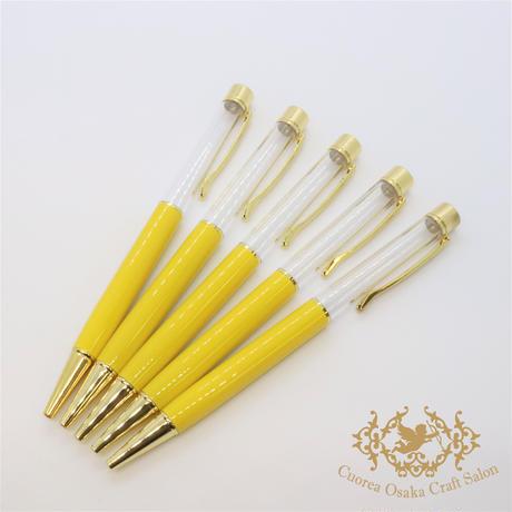 12:ハーバリウムボールペン単体 イエロー×GO  5本組