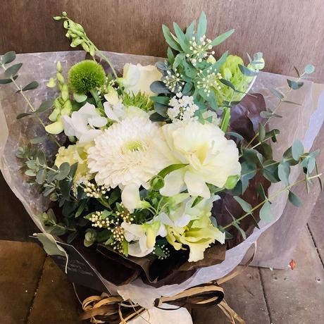 【母の日限定!】生花の花束~green~