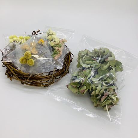 【手作りキット】ドライフラワーリース~エリンジウム~