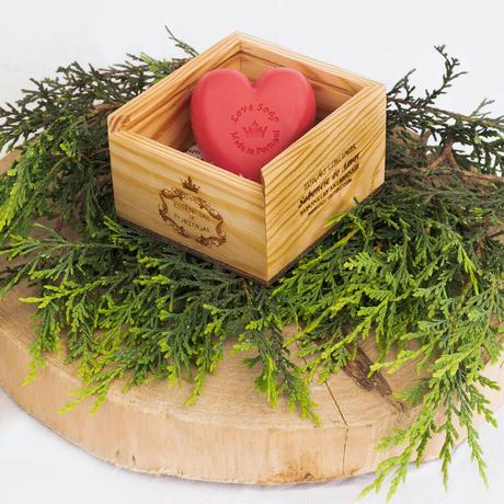 エッセンシアスデポルトガル LOVE ラヴ ソープ 木箱 150g / 洗顔 石鹸 オーガニック