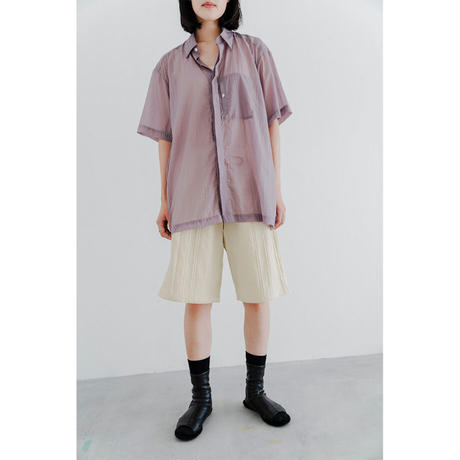 Dobby Check Canvas Wide Shorts