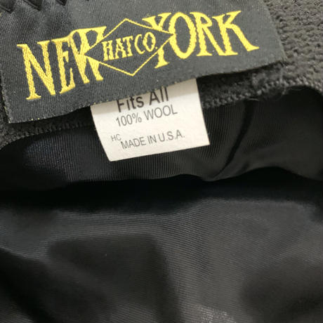 "NEW YORK HAT WOOL CASQUETTE ""BIG APPLE """