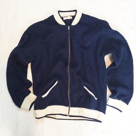 70's Montgomery ward mohair zip cardigan