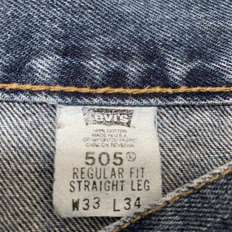 USA製 LEVI'S 505 W33