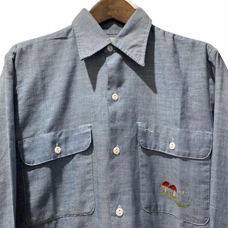 70's VINTAGE シャンブレーシャツ