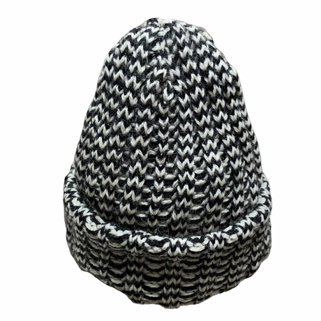 HOUNDSTOOTH PATTERN KNIT CAP