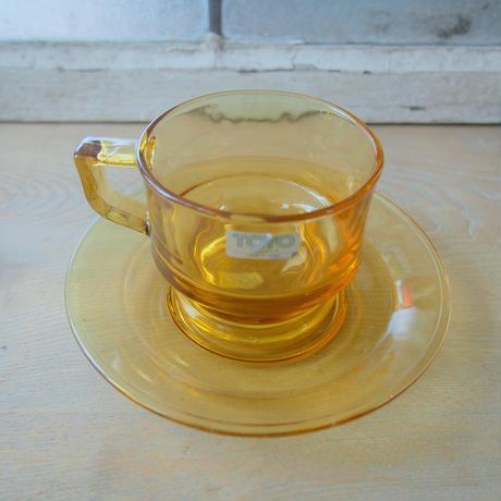 100. TOYOグラスウェア コーヒーカップ&ソーサーセット