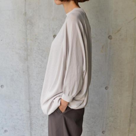 Asymmetrical sweater <Light grey>