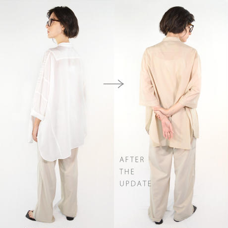 【Updateable  shirt #1】  ※ピンタック 加工注文