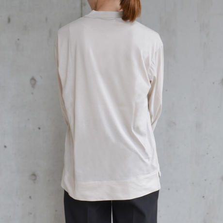 Long sleeve tee <Beige>