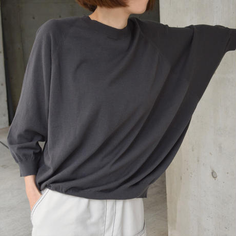 Asymmetrical sweater <Dark grey>