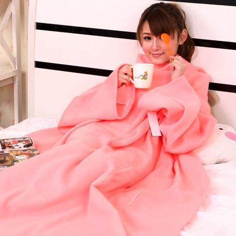 冬の新定番 着る毛布 ルームウェア 寒さ対策 ブランケット 毛布 F 181585