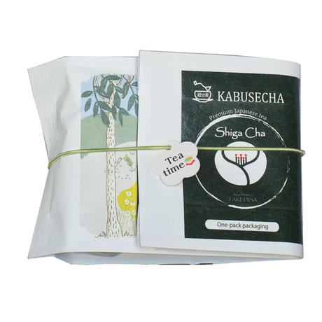 Premium Shigaかぶせ煎茶ティーバッグ    One-pack packaging   2g個包装×8p