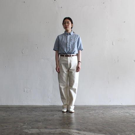 OMNIGOD_リネン半袖BDシャツwomen/【56-0919X】