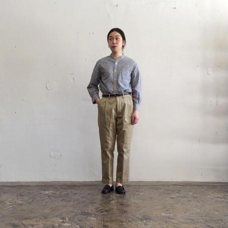 OMNIGOD_綿麻チェックスタンドカラーシャツwomen/【56-0917X】
