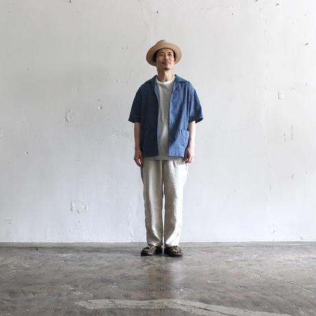 OMNIGOD_綿麻ショートスリーブボックスシャツmen/【56-0340X】