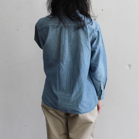 OMNIGOD_シャンブレーBDシャツwomen/【56-0346X】