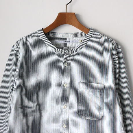 OMNIGOD_7部袖スタンドカラーシャツヒッコリーwomen/【56-0913E】