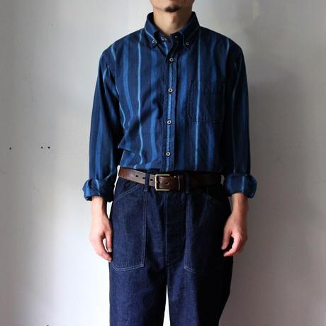 OMNIGOD_インディゴストライプBDシャツ/mens【56-0317X】