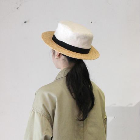 sashiki _ 麻×ラフィアハット白【I161O0011】