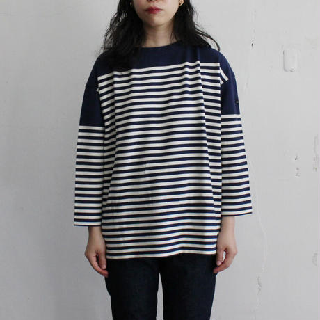 OMNIGOD_ボートネックバスクシャツwomen【59-0906N】
