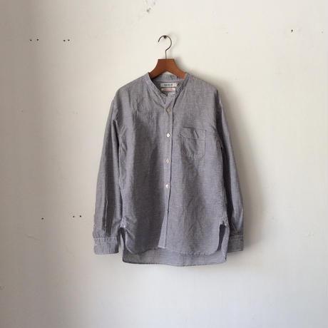 OMNIGOD_綿麻スタンドカラーシャツmen/【56-0338X】