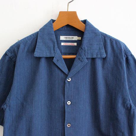 OMNIGOD_インディゴショートスリーブボックスシャツmen/【56-0339X】