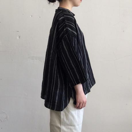 artepovera_リネンストライプシャツ【I017A0103】