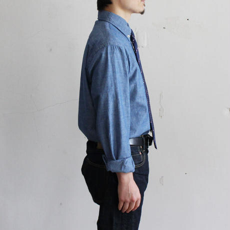 OMNIGOD_シャンブレーBDシャツmen/【56-0345X】