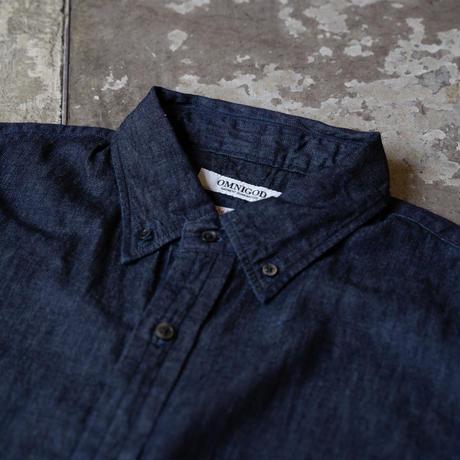 OMNIGOD_5.5ozデニムBDシャツ/mens【56-0318E】