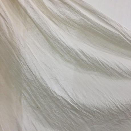 ルクツル のピンタック羽織ーオーガニックコットン薄手ーナチュラルホワイトー