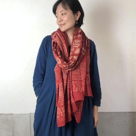バグルーハンドブロックプリント大判ストール〜アジュラック〜 K